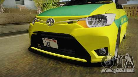 Toyota Vios Sturdy Philippine Taxi 2014 for GTA San Andreas upper view