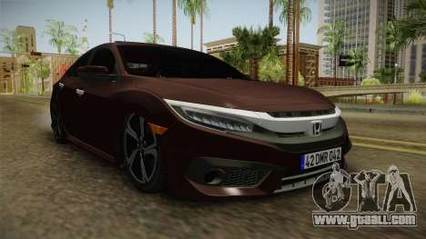 Honda Civic 2017 FC5 for GTA San Andreas right view