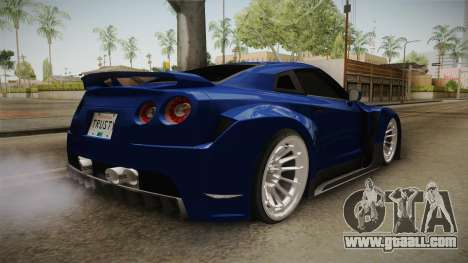 Nissan GT-R R35 NFSUC Tuning for GTA San Andreas back left view