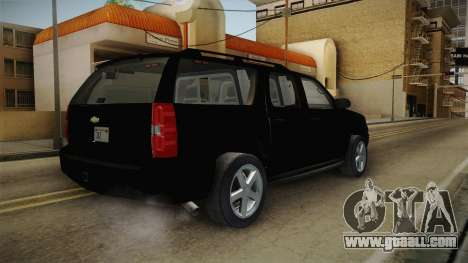 Chevrolet Suburban 2009 Flashpoint for GTA San Andreas back left view