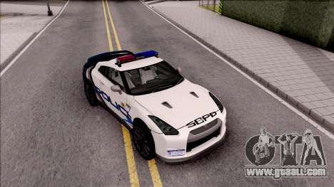Nissan GT-R 2013 High Speed Police for GTA San Andreas right view