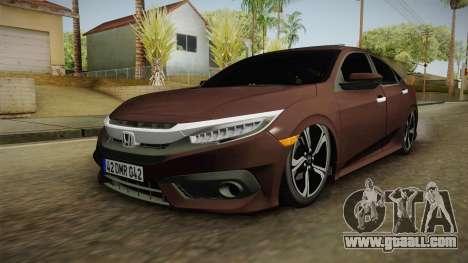 Honda Civic 2017 FC5 for GTA San Andreas