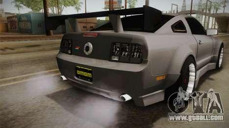 Ford Mustang Rocket JDM for GTA San Andreas bottom view