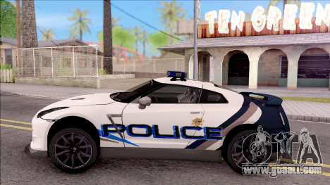 Nissan GT-R 2013 High Speed Police for GTA San Andreas left view