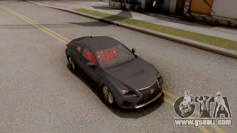 Lexus RC F for GTA San Andreas right view