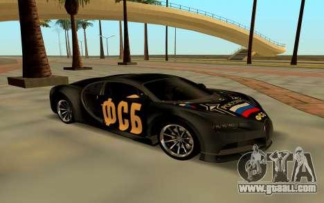 Bugatti Chiron FSB for GTA San Andreas