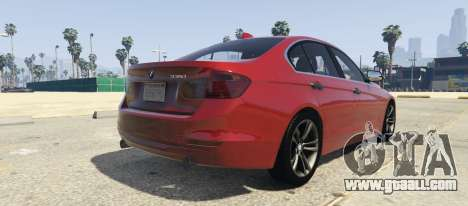 GTA 5 BMW 335i Sedan left side view