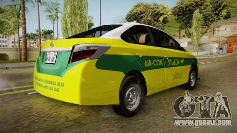 Toyota Vios Sturdy Philippine Taxi 2014 for GTA San Andreas right view