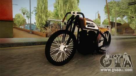 Harley-Davidson V Twin Racer 1916 for GTA San Andreas right view