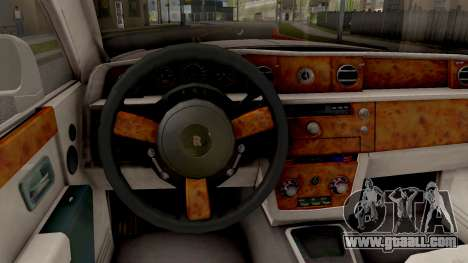 Rolls-Royce Phantom (VII) for GTA San Andreas inner view