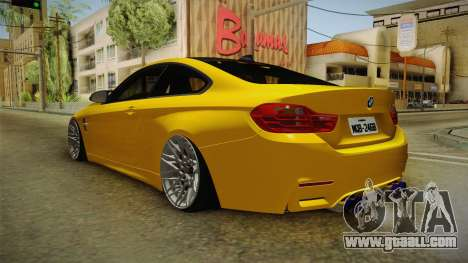 BMW M4 F82 Stance for GTA San Andreas back left view