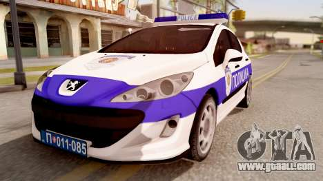 Peugeot 308 Policija for GTA San Andreas