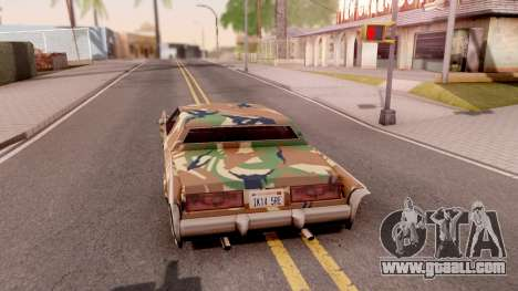New Paintjob for Remington v3 for GTA San Andreas back left view