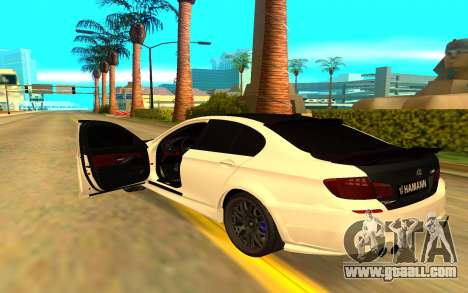BMW M5 F10 Hamann for GTA San Andreas back view