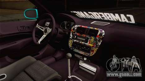 Honda Civic Hatchback for GTA San Andreas inner view