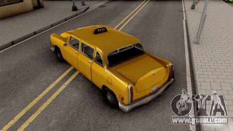 Cabbie New Texture for GTA San Andreas back view