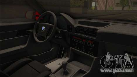 BMW 5 Series E34 Touring Stance for GTA San Andreas inner view