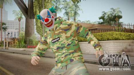 Skin GTA Online Clown Camouflaged for GTA San Andreas