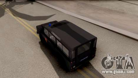Land Rover Defender Gendarmerie, Which for GTA San Andreas back view
