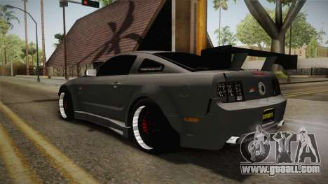 Ford Mustang Rocket JDM for GTA San Andreas back left view