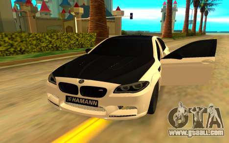 BMW M5 F10 Hamann for GTA San Andreas back left view