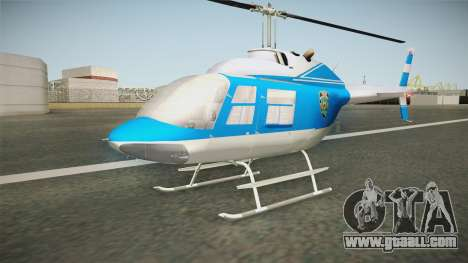 Bell 206 NYPD Helicopter for GTA San Andreas right view