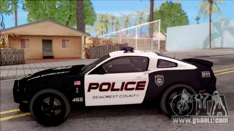 Ford Mustang GT High Speed Police for GTA San Andreas left view