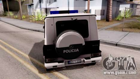 Mercedes-Benz G65 AMG BIH Police Car for GTA San Andreas back left view