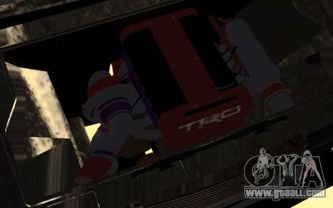 VAZ 2107 Drift for GTA San Andreas inner view