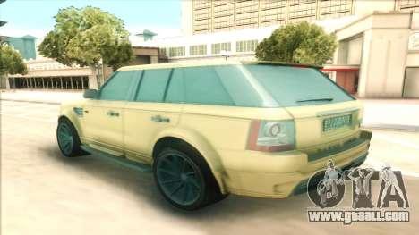 Range Rover Arden Design for GTA San Andreas back left view