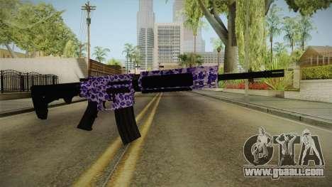Tiger Violet M4 for GTA San Andreas