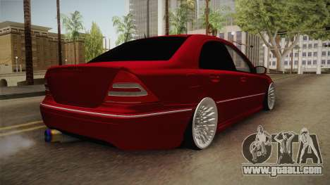 Mercedes-Benz C32 AMG Stanced for GTA San Andreas back left view