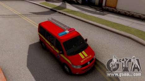 Volkswagen Transporter T5 Vatrogasci for GTA San Andreas right view