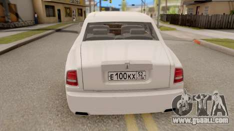 Rolls-Royce Phantom (VII) for GTA San Andreas back left view