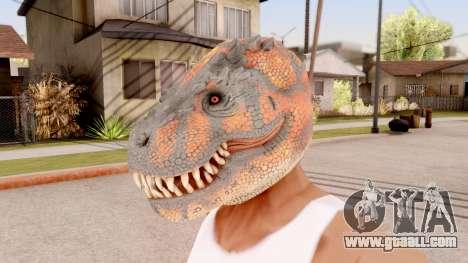 The Dinosaur Mask for GTA San Andreas
