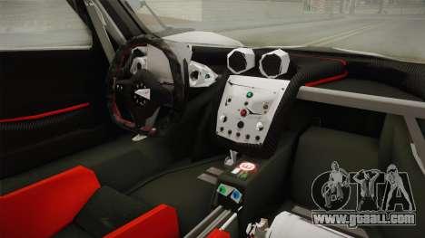 Pagani Zonda Low for GTA San Andreas inner view