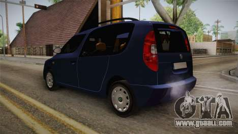 Skoda Roomster for GTA San Andreas back left view