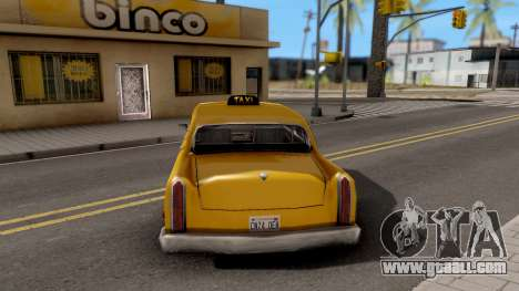 Cabbie New Texture for GTA San Andreas back left view