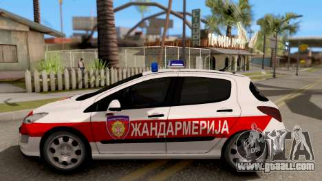 Peugeot 308 Žandarmerija for GTA San Andreas left view