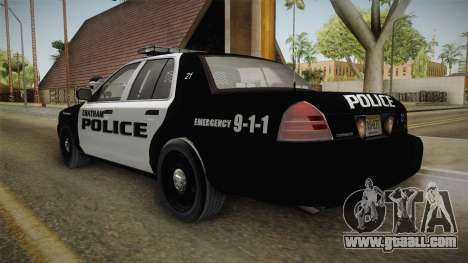 Ford Crown Victoria 2009 Chatham, New Jersey PD for GTA San Andreas left view