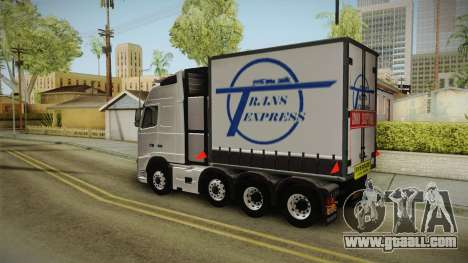Volvo FH16 660 8x4 Convoy Heavy Weight for GTA San Andreas back left view