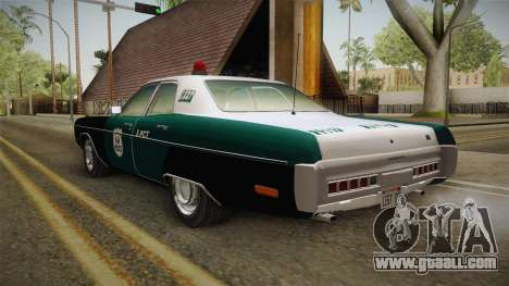 Plymouth Fury I NYPD for GTA San Andreas back left view