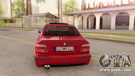 BMW M5 E39 MPOWER for GTA San Andreas back left view