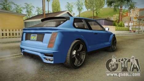 GTA 5 Enus Huntley Coupè for GTA San Andreas left view