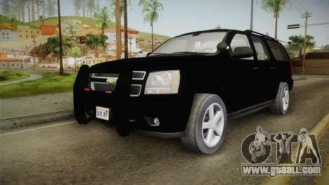 Chevrolet Suburban 2009 Flashpoint for GTA San Andreas