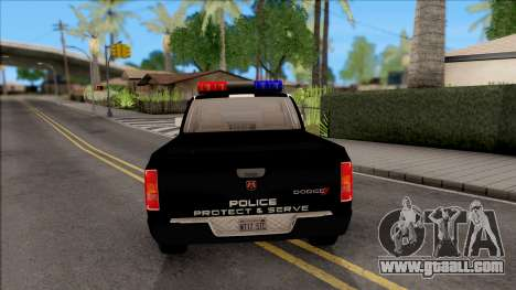 Dodge Ram High Speed Police for GTA San Andreas back left view