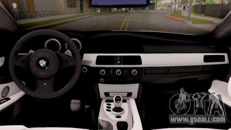 BMW M5 E60 Croatian Police Car for GTA San Andreas inner view