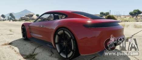 GTA 5 Porsche Mission E 2015 left side view