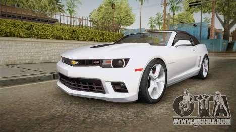 Chevrolet Camaro Convertible 2014 for GTA San Andreas