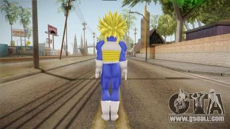 DBX - Super Trunks Saiyan Armor for GTA San Andreas third screenshot